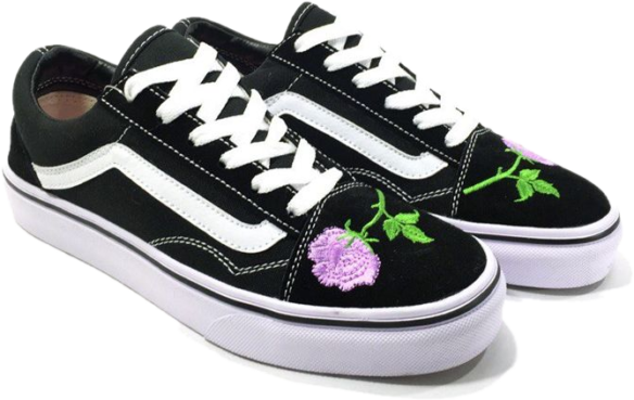 Фото Vans Old Skool (BlackWhiteRose) - 1